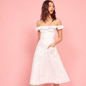White Maldives Reformation Dress Size 2